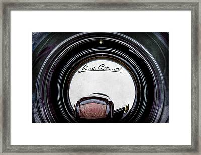 1941 Lincoln Continental Spare Tire Emblem - 1963ac Framed Print by Jill Reger