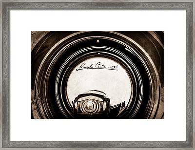 1941 Lincoln Continental Spare Tire Emblem - 1963s Framed Print by Jill Reger