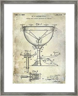1941 Ludwig Drum Patent  Framed Print
