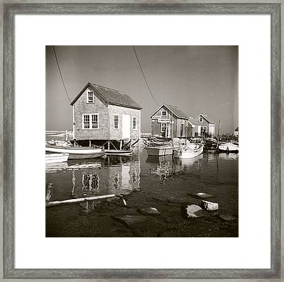 Framed Print featuring the photograph 1941 Lobster Shacks, Martha's Vineyard by Historic Image