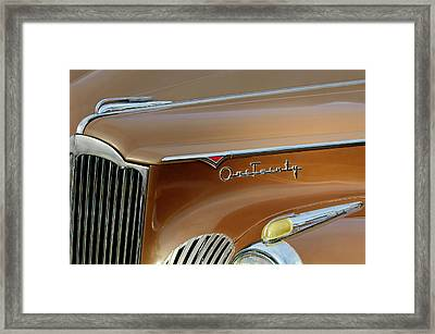 1941 Packard Hood Ornament 2  Framed Print by Jill Reger