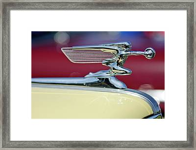 1941 Packard Hood Ornament 3 Framed Print by Jill Reger