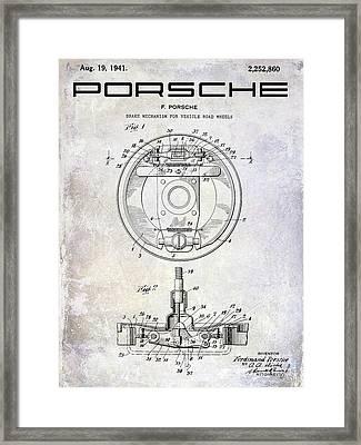1941 Porsche Brake Mechanism Patent Framed Print