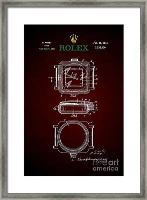 1941 Rolex Watch Patent 4 Framed Print by Nishanth Gopinathan