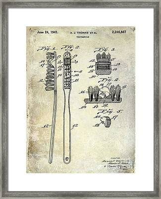 1941 Toothbrush Patent  Framed Print