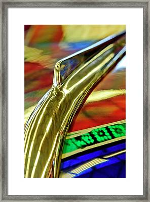 1941 Willys Chopped Gasser Pickup Hood Ornament Framed Print