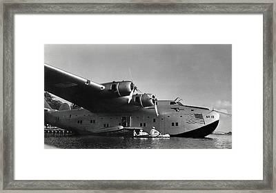 1942 China Clipper Vists Hawaii Framed Print by Historic Image