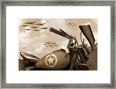 1942 Indian 841 - B-17 Flying Fortress - H Framed Print by Mike McGlothlen