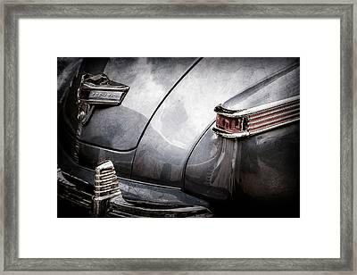 1942 Lincoln Zephyr Coupe Tail Light Emblem -1516ac Framed Print by Jill Reger