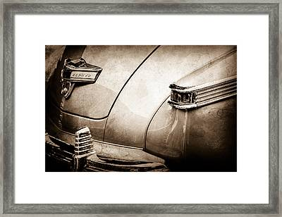 1942 Lincoln Zephyr Coupe Taillight Emblem -1516s Framed Print by Jill Reger