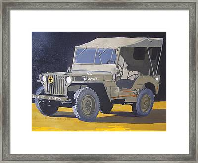 1942 Us Army Willys Jeep Framed Print