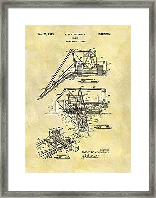1943 Grader Patent Framed Print by Dan Sproul