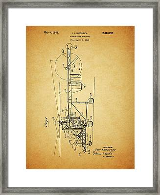 1943 Helicopter Patent Framed Print by Dan Sproul
