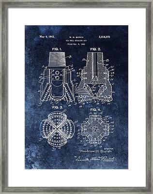 1943 Oil Drill Bit Patent Framed Print