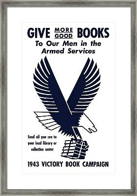 1943 Victory Book Campaign Framed Print by War Is Hell Store