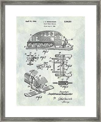 1944 Chain Tread Vehicle Patent Framed Print by Dan Sproul