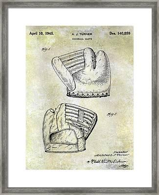 1945 Baseball Glove Patent Framed Print