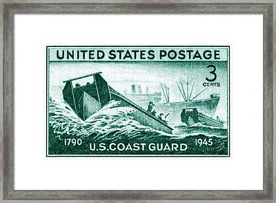 1945 Coast Guard Issue Stamp Framed Print by Historic Image