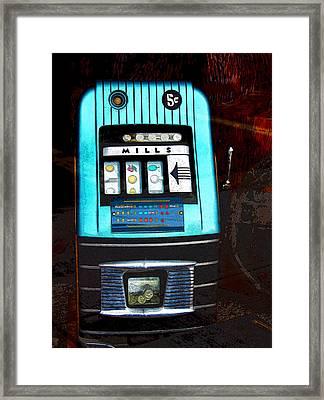 1945 Mills High Top 5 Cent Nickel Slot Machine Framed Print by Karon Melillo DeVega