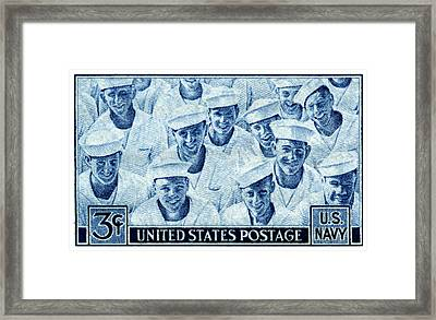 1945 Us Navy Issue Stamp Framed Print