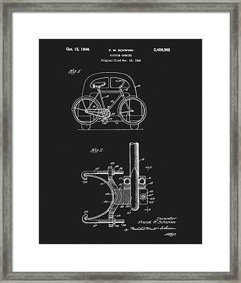 1946 Bicycle Carrier Patent Framed Print