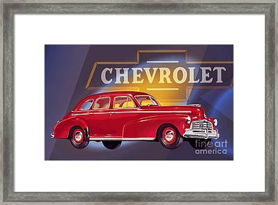 1946 Chevrolet Fleetmaster Sport Sedan Framed Print
