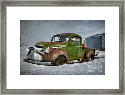 1946 Chevy Truck Framed Print by Beve Brown-Clark Photography