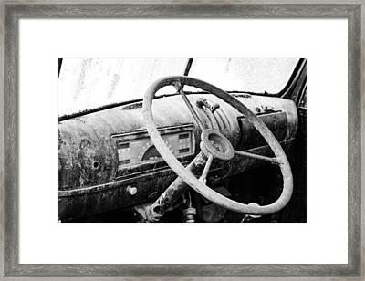 1946 Chevy Work Truck Dashboard Framed Print by Jon Woodhams