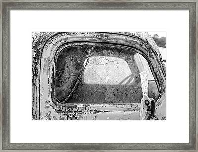 1946 Chevy Work Truck Passenger Window Framed Print by Jon Woodhams
