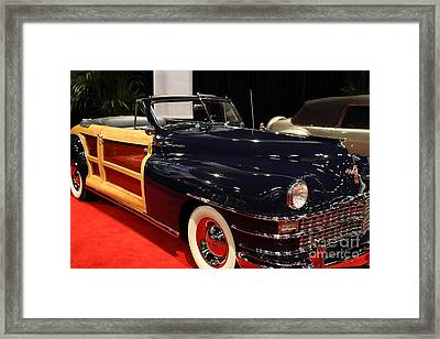 1946 Chrysler Town And Country Convertible . Front Angle Framed Print