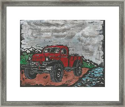 1946 Dodge Power Wagon Framed Print by Dick Gallagher