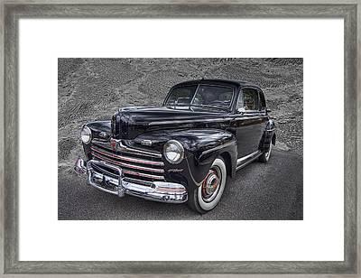 1946 Ford Framed Print by Debra and Dave Vanderlaan