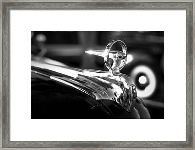 1946 Ford V8 Hood Ornament Framed Print by Beverly Stapleton