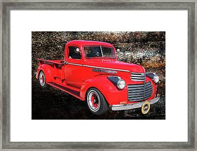 1946 Gmc Pickup Truck 5514 .02 Framed Print by M K  Miller