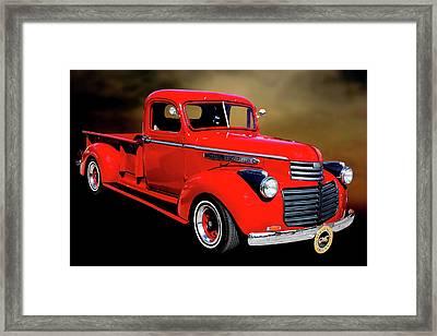 1946 Gmc Pickup Truck 5514 .04 Framed Print by M K  Miller
