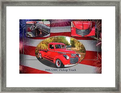 1946 Gmc Pickup Truck 5514 .05 Framed Print by M K  Miller