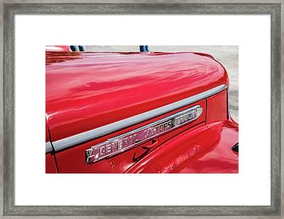 1946 Gmc Pickup Truck 5514 .08 Framed Print by M K  Miller