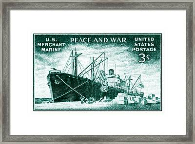 1946 Merchant Marine Stamp Framed Print
