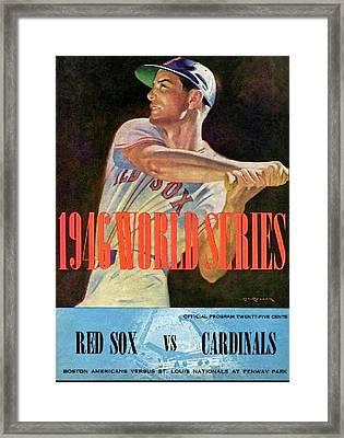 1946 World Series Program, Red Sox Vs Cardinals Framed Print