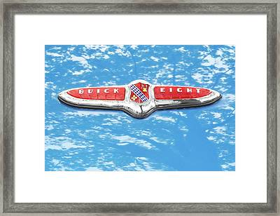 1947 Buick Eight Hood Emblem Framed Print by Jim Hughes