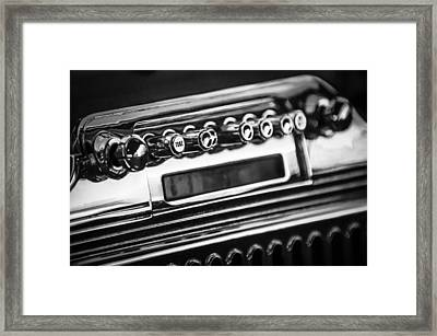 1947 Cadillac Model 62 Coupe Radio -440bw Framed Print