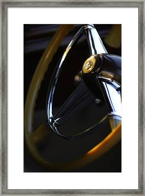 1947 Cadillac Model 62 Coupe Steering Wheel Framed Print