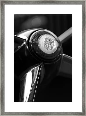 1947 Cadillac Steering Wheel Framed Print
