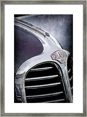 Framed Print featuring the photograph 1947 Delahaye Emblem -1477ac by Jill Reger