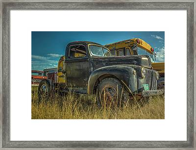 1947 Ford Cab And Chassis Framed Print by Constance Puttkemery