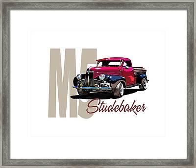 1947 M5 Studebaker Pickup Framed Print