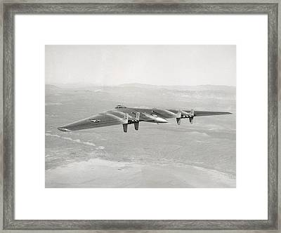 Framed Print featuring the photograph 1947 Northrop Flying Wing by Historic Image