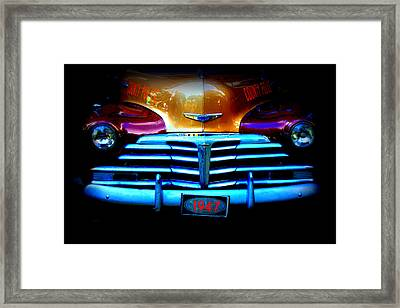 1947 Police Car Framed Print by Dana  Oliver