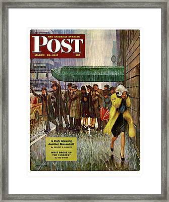 1947 Saturday Evening Post Magazine Cover Framed Print