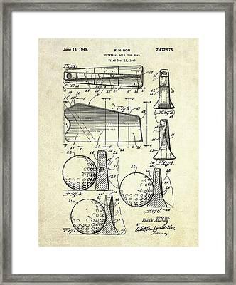 1947 Universal Golf Head Patent Art Framed Print